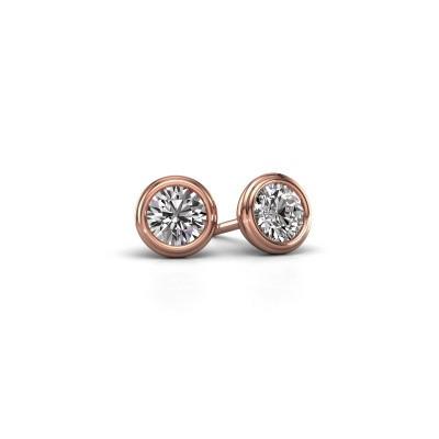 Foto van Oorstekers Shemika 375 rosé goud diamant 0.50 crt