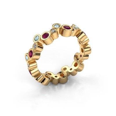 Foto van Ring Tessa 585 goud rhodoliet 2.5 mm