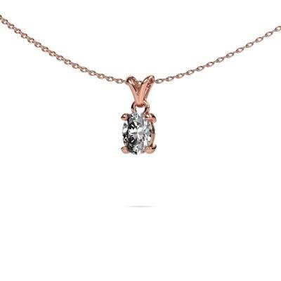 Ketting Lucy 1 375 rosé goud lab-grown diamant 0.80 crt
