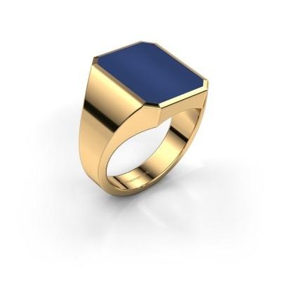 Foto van Zegelring Lars 4 585 goud lapis lazuli 15x12 mm