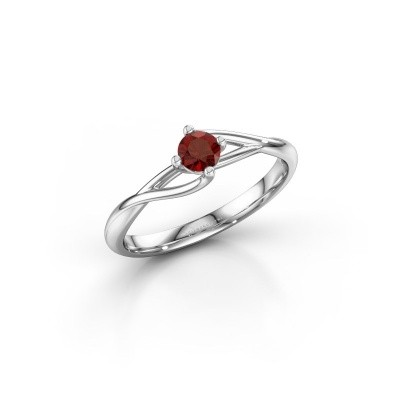 Picture of Engagement ring Paulien 925 silver garnet 4 mm