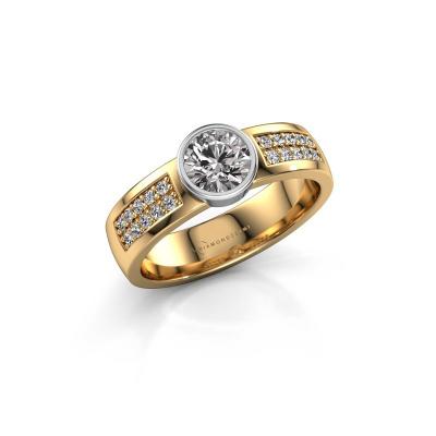 Engagement ring Ise 3 585 gold diamond 0.65 crt