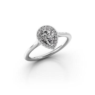 Foto van Verlovingsring Monique 1 585 witgoud diamant 0.75 crt