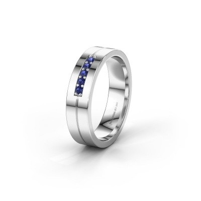 Wedding ring WH0211L15AP 585 white gold sapphire ±0.20x0.07 in