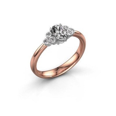 Bild von Verlobungsring Lucy 1 585 Roségold Lab-grown Diamant 0.572 crt