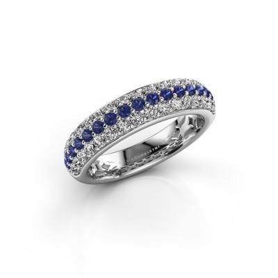 Foto van Ring Emely 6 925 zilver saffier 1.7 mm