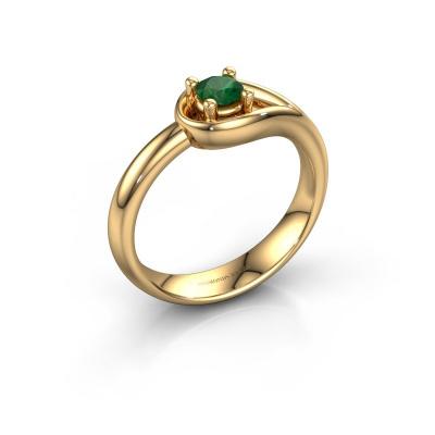 Ring Fabienne 585 goud smaragd 4 mm
