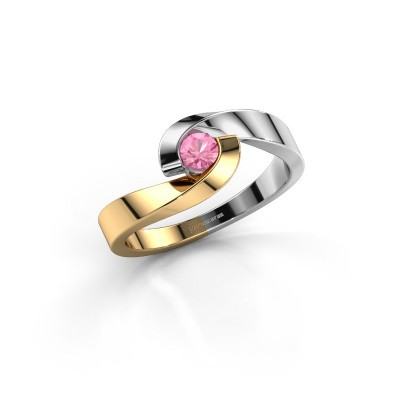 Picture of Engagement ring Sheryl 585 gold pink sapphire 3.7 mm