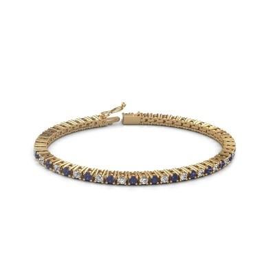 Tennis bracelet Petra 375 gold sapphire 3 mm