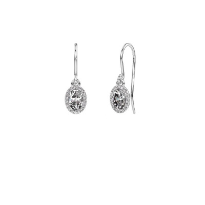 Bild von Ohrhänger Seline ovl 585 Weißgold Lab-grown Diamant 1.16 crt