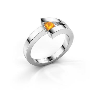 Ring Sofia 585 Weißgold Citrin 3.7 mm