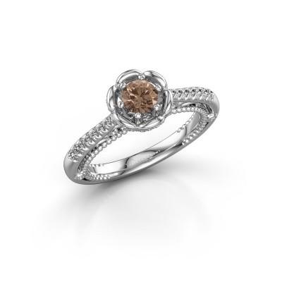 Verlobungsring Abbey 950 Platin Braun Diamant 0.582 crt