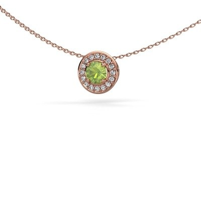 Picture of Pendant Agaat 375 rose gold peridot 5 mm