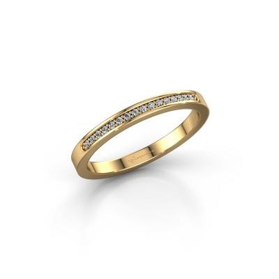 Foto van Aanschuifring SRJ0005B20H2 375 goud diamant 0.08 crt