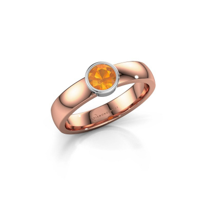 Foto van Ring Ise 1 585 rosé goud citrien 4.7 mm