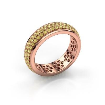 Ring Tara 375 Roségold Gelb Saphir 1.3 mm