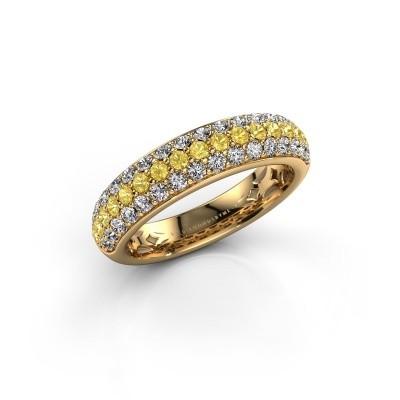 Foto van Ring Emely 6 375 goud gele saffier 1.7 mm