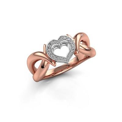 Bague Earlie 1 585 or rose diamant 0.077 crt