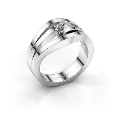 Ring Carlijn 585 Weißgold Braun Diamant 0.03 crt