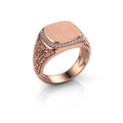 Heren ring Jesse 2 375 rosé goud lab-grown diamant 0.255 crt