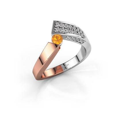 Ring Evie 585 rose gold citrin 3.4 mm