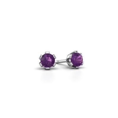 Picture of Stud earrings Julia 925 silver amethyst 4 mm