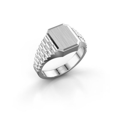 Foto van Rolex stijl ring Erik 1 585 witgoud