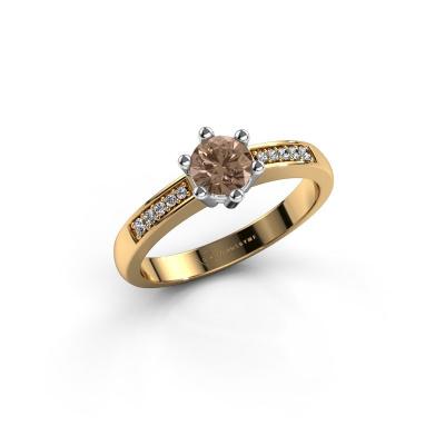 Verlovingsring Luna 2 585 goud bruine diamant 0.50 crt
