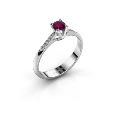 Promise ring Janna 2 925 zilver rhodoliet 4 mm