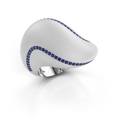 Foto van Ring Phyliss 925 zilver saffier 1 mm
