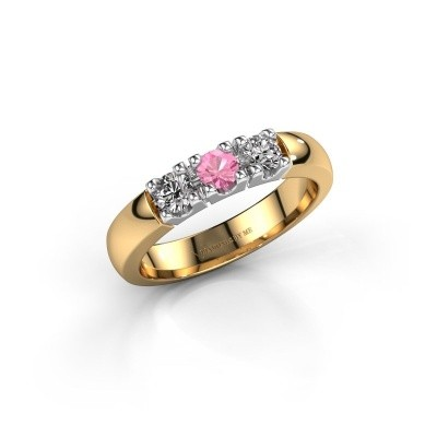 Picture of Engagement ring Rianne 3 585 gold pink sapphire 3.4 mm