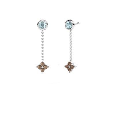Foto van Oorhangers Ardith 950 platina bruine diamant 0.24 crt