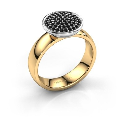 Picture of Ring Tilda 585 gold black diamond 0.366 crt