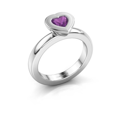 Picture of Stacking ring Eloise Heart 585 white gold amethyst 5 mm