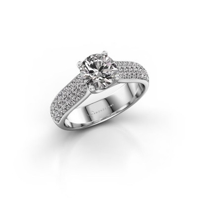 Engagement ring Leoness 950 platinum diamond 1.00 crt