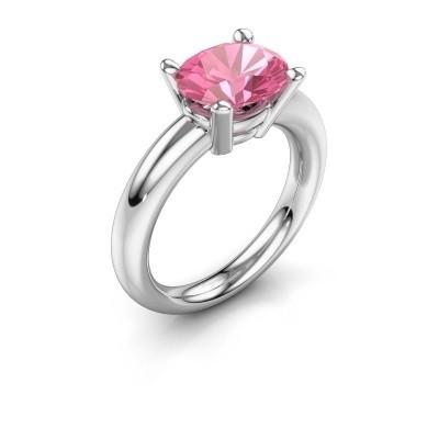 Ring Janiece 925 Silber Pink Saphir 10x8 mm