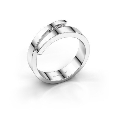 Foto van Ring Alia 585 witgoud lab-grown diamant 0.065 crt