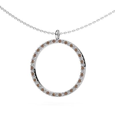 Foto van Hanger Towanda 950 platina bruine diamant 0.39 crt
