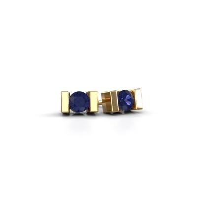 Oorstekers Lieve 585 goud saffier 3.7 mm