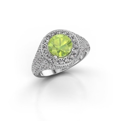 Picture of Ring Dayle 585 white gold peridot 7 mm
