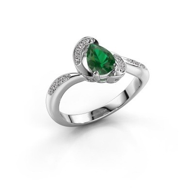 Picture of Ring Jonelle 585 white gold emerald 7x5 mm