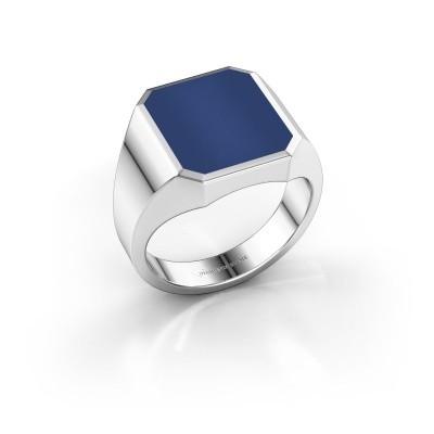 Foto van Zegelring Lars 3 925 zilver lapis lazuli 14x12 mm