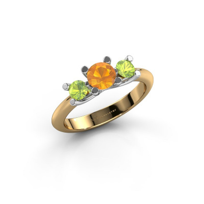 Ring Mirthe 585 gold citrin 5 mm