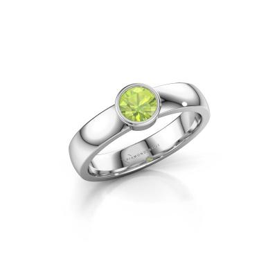 Ring Ise 1 585 white gold peridot 4.7 mm