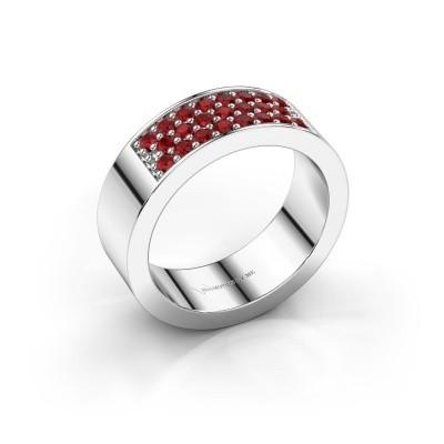 Ring Lindsey 5 950 platinum ruby 1.7 mm