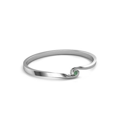 Bangle Sheryl 950 platinum emerald 3.7 mm