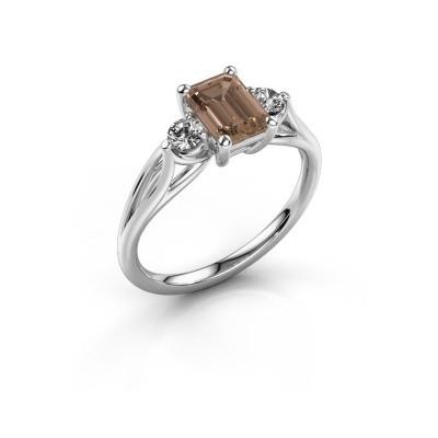 Foto van Verlovingsring Amie EME 585 witgoud bruine diamant 1.350 crt