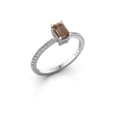 Verlobungsring Denita 2 925 Silber Braun Diamant 0.70 crt