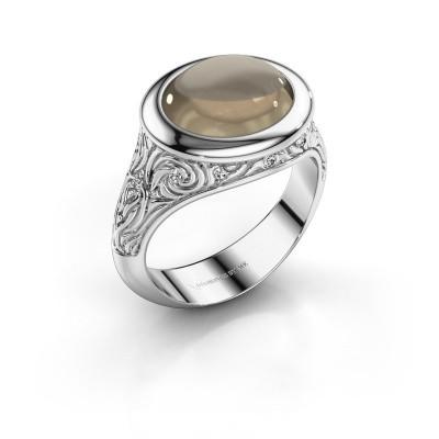 Ring Natacha 925 zilver rookkwarts 12x10 mm