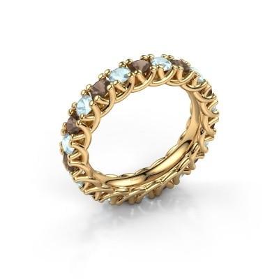 Foto van Ring Fenna 375 goud rookkwarts 3 mm